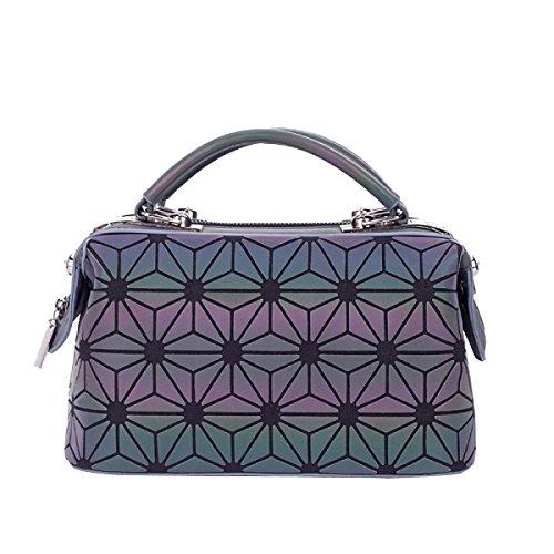 Damen Geometrische Tote Bag Gefaltete PU Schultertasche D