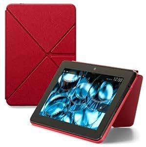 Amazon Origami Lederhülle mit Standfunktion für Kindle Fire HDX (3. Generation - 2013 Modell), Rot