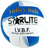 Leather Match Ball Volleyball White 64cm All Surfaces, Beach & Net Ball-Size 5