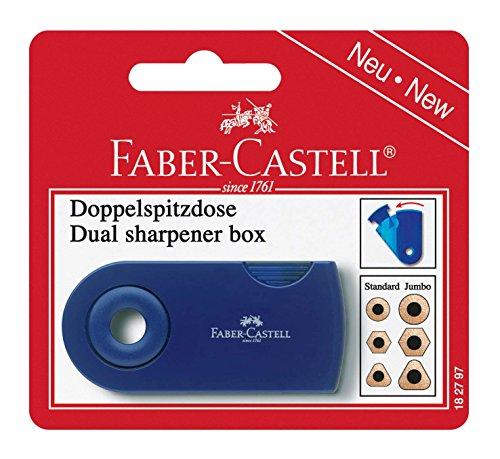 Faber-Castell 182797 - Doppelspitzdose, farblich sortiert in rot und blau -keine Farbauswahl möglich- (Sleeve Carry)