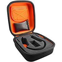 Tamaño completo carcasa rígida funda de transporte tamaño grande/auriculares bolsa de viaje con espacio para Cable, AMP, piezas y accesorios compatible con Beyerdynamic DT660, DT770, DT990DT880, AKG K240, K701, K702, Q701