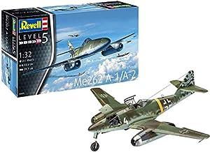 Revell-Messerschmitt Me262 A-1/A-2 Schw, Escala 1:32 Kit de Modelos de plástico, Multicolor, 1/32 03875 3875