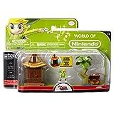 Nintendo JAKKNIN028IVL - World of Micro Land Zelda Playset - Island Village mit Link Figure