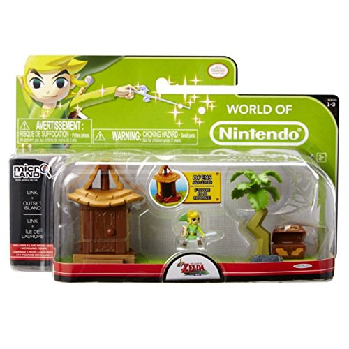 Mario Bros - World of Nintendo Micro Land Zelda Playset: Island Village with Link figura (Jakks Pacific JAKKNIN028IVL)
