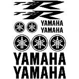 Adhesivo Pegatina Adhesivo Sticker texto y logo varias dimensiones ,,Kit Adesivo Yamaha TZR,, (ORO)