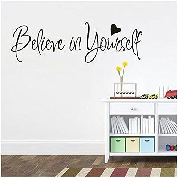 adesivi murali frasi scritte believe in yourself adesivi