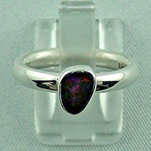 Sterling Silberring mit Top Boulder Opal 0,81 ct