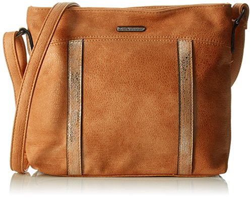 Little Marcel - Yetta, Borsa a tracolla Donna Marrone (Brown)