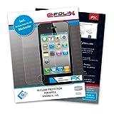 FoliX FX-Clear - Protector de pantalla ultraclaro para iPhone 4 (anverso y reverso)