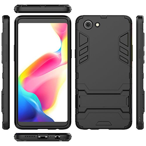 competitive price 38575 f7546 TARKAN Heavy Duty Shockproof Armor Kickstand Back Case Cover for Oppo  Realme 1 (Black) Real Me 1