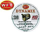 WFT Dynamix Round Deep Sea grün 350m 0,30mm 26kg geflochtene Schnur, geflochtene Schnur zum Meeresangeln, Meeresschnur für Tiefsee, Schnur für Multirolle