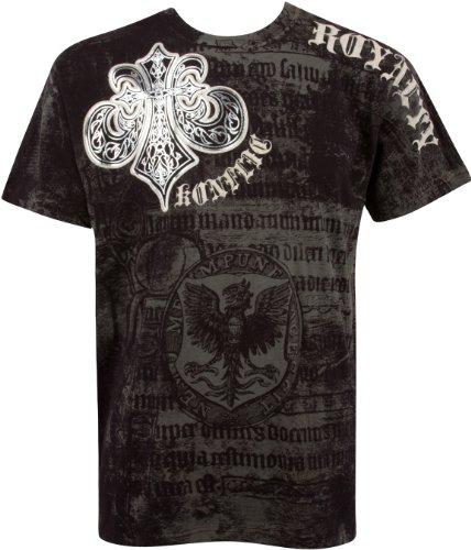 Sakkas Royalty Metallic Silber Short Sleeve Crew Neck Baumwolle Herren Fashion T-Shirt Gr. Large, schwarz -