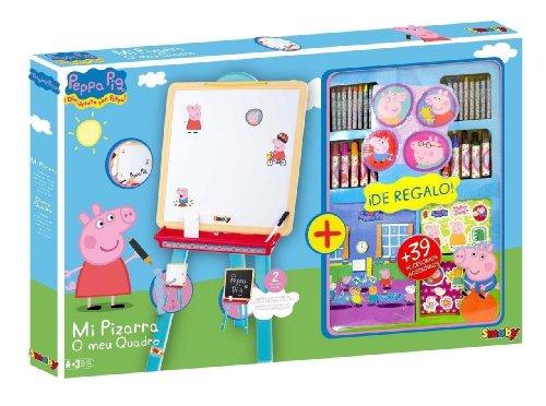 Peppa Pig 28079 – Pizarra + Accesorios Colouring (Smoby)