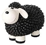 1PLUS Mini-Schaf Molly Dekofigur Gartenfigur, Figur für den Garten/Außen-Bereich (Schwarz)