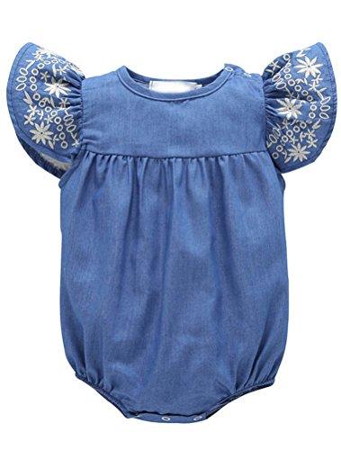 ARAUS Baby Mädchen Overll Strampler Sommer Schulterfrei Outfits 0-24 ()