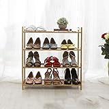 Kleines Schuh-Lagerregal Stapelbares Multifunktionsstand-Bambus Starkes Und Dauerhaftes Regal Für Tür-Eingangs-Halle 3 Reihe ( Farbe : Length 50cm , größe : 4 tier )
