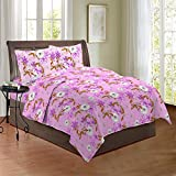 Bombay Dyeing Cynthia 120 TC Polycotton Double Bedsheet with 2 Pillow Covers - Magenta