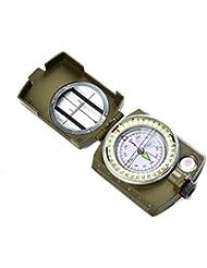 ATPOWNZ multifonction Compass - Boussole militaire de navigation imperméable à l'eau lumineux en plein air boussole indispensable pour la randonnée Camping / escalade / vélo Activités de plein air