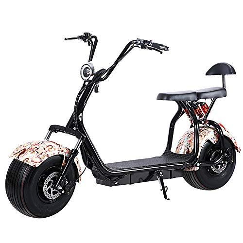 Nahsnef Elektroroller Scooter Harley Two Elektroroller Scooter 1500 Watt Motor bis zu 50 km Reichweite, Max. Geschwindigkeit 45 km/h