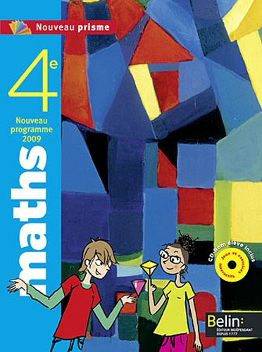 Maths 4e : Programme 2009, format compact (1Cédérom)