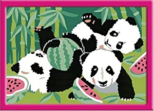 "Ravensburger 27869 - Juego de pintura por números diseño ""Pandas"", 13 x 18 cm importado de Alemania"