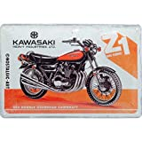 Nostalgic-Art 22284 - Kawasaki - Motorcycle Z1 , Retro Blechschild , Vintage-Schild , Wand-Dekoration , Metall , 20x30 cm