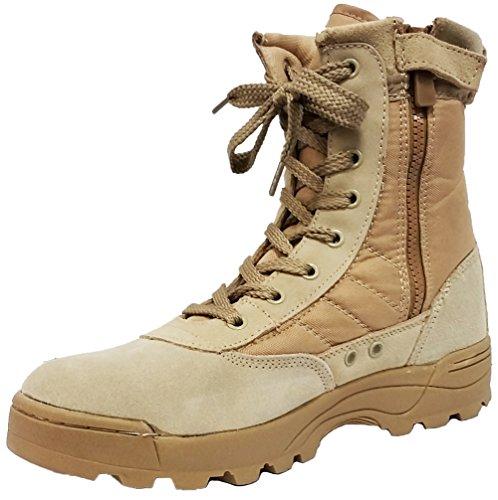 A-Express Collections Herren Combat Boots, Beige - Desert Tan - Größe: 43 Desert Boot-tan
