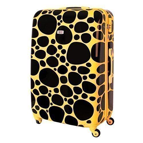 Hartschalen Koffer 100 Liter Kieselsteine Gelb Schwarz 813