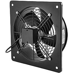 Frantools Ventilateur AXIAL 10'' A cadre carré A rotor extérieur Moteur en cuivre pur 65 W 1450 tr/min Pour l'évacuation des gaz d'échappement