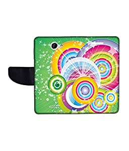 KolorEdge Printed Flip Cover For HTC Desire 516 Multicolor -(50KeMLogo12162HTC516)