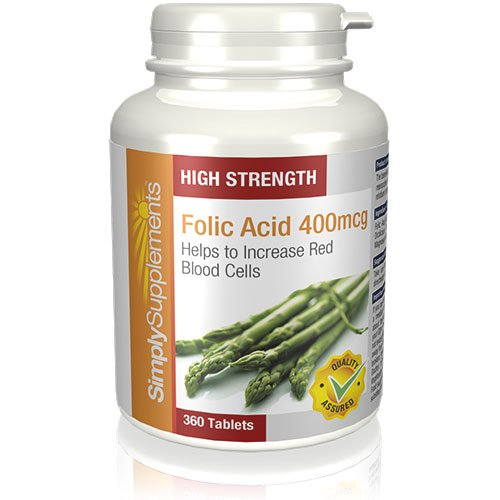 Folic Acid (Vitamin B9) 400mcg | Pregnancy Care | 360 Tablets | 100% money back guarantee | Manufactured in the UK Test