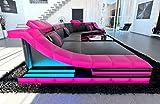 Sofa Dreams XXL Wohnlandschaft Turino CL Form Schwarz-Pink