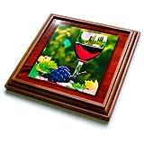 3dRose trv_25854_1 Red Wine in The Vineyard Trivet with Ceramic Tile, 8
