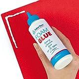 Hochwertiger Schaumstoff-Kleber - für Kinder zum Basteln mit feiner Düse zum präzisem Auftragen - 1 Tube