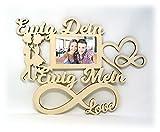 Ich liebe dich Geschenk für Männer Frauen Mann Frau Wand Foto Holz Bilderrahmen Ewig Dein Ewig Mein Partner 10x15 cm Ehepaar Paar Pärchen Frauen Freundin Ehefrau Ehemann