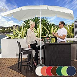 Miadomodo-Parasol de terrasse carrée 2x 1,55M Beige