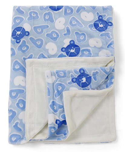 Mee Mee Double Layer Soft Baby Blanket With 3D Printing (blue)