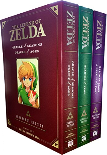 The Legend of Zelda Legendary Edition Collection 3 Books Set (The Legend of Zelda: Legendary Edition Vol. 1: Ocarina of Time Parts 1 & 2, The Legend of Zelda: Legendary Edition Vol. 2: Oracle of Seasons and Oracle of Ages, The Legend of Zelda: Legendary Edition Vol. 3: Majora's Mask / A Link to the Past)