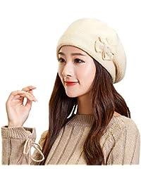 Overdose Gorras De Punto Elegante Flor Casual Punto Crochet Gorro De  Invierno Gorra De Invierno Boina aa0416b8491