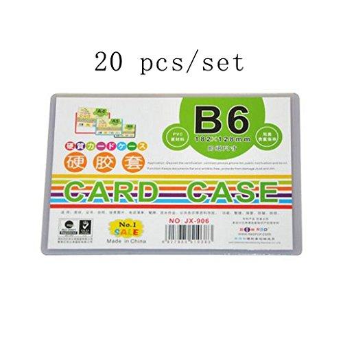 Liu Yu·Bureau, bureau Papeterie B6 carte jeux de document documents hard coat PVC 20 pcs/set