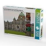 Das British Columbia Parliament Building, Victoria BC 1000 Teile Puzzle quer