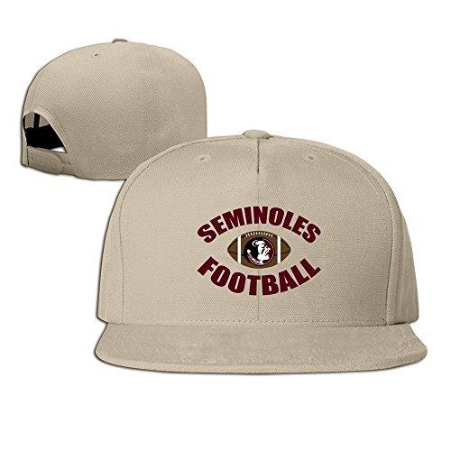 Hittings Florida State Seminoles Logo Football Unisex Fashion Cool Adjustable Snapback Baseball Cap Hat One Size Natural