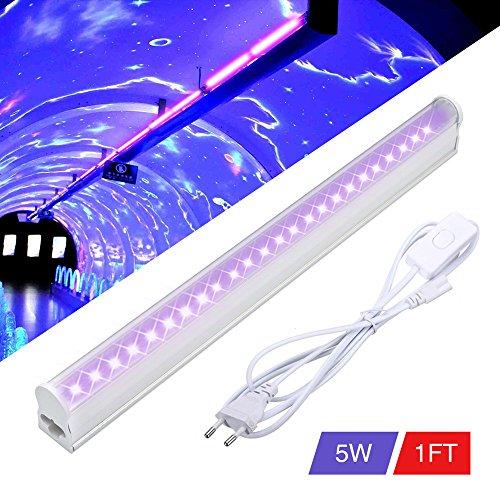 land LED Schwarzlicht Bühnenlicht (24 LEDs 5W AC85-265V) UV licht Partylicht Effektlicht Bühnenbeleuchtung für Club Party Karneval Disco Ballsaal Bühne EU Stecker (Uv Licht Party)