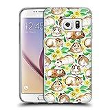 Offizielle Micklyn Le Feuvre Meerschweinchen Und Gänseblümchen Und Aquarell Minz Muster 2 Soft Gel Hülle für Samsung Galaxy S7