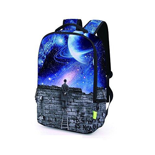 Tasche, feiXIANG 3D Galaxy Travel Tasche Rucksack Rucksack E