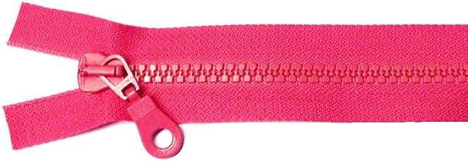 Reißverschluß Kunststoff teilbar für Jacken 50 cm pink