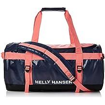 Helly Hansen Classic Duffel Bolsa de deporte, 90 cm, 50 litros, Azul Marino/Rojo
