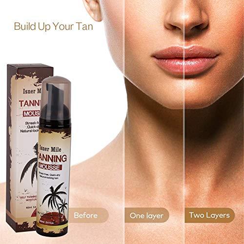 Allouli Body Self Tanner Mousse Beauty Black Self Tanning Foam Sunless Natural Tan Bronzers - Sun Sunless Bronze