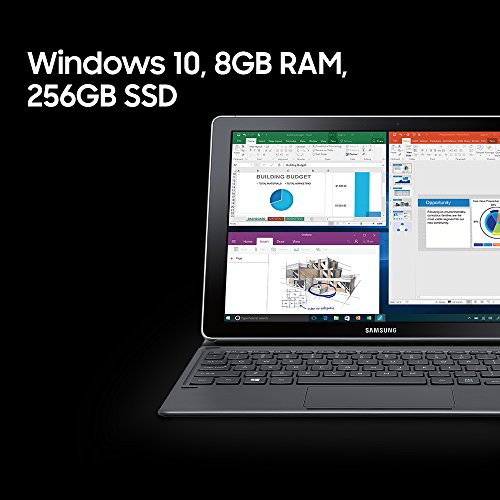 Samsung Galaxy book SM-W720NZKAXAR Laptop (Windows 10, 8GB RAM, 256GB HDD) Silver Price in India