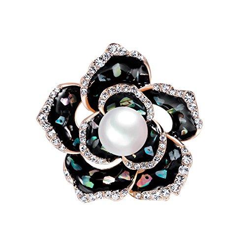 Emorials 1 Pcs Brosche für Damen Perle Rosa Mantel Pin Kleidung Dekoration Modeschmuck Geschenk Herren Schmuck Accessoires